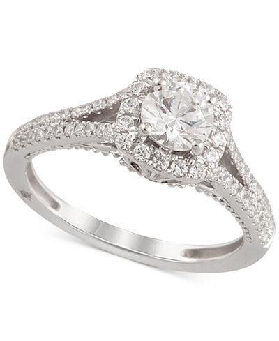 Marchesa Certified Diamond Engagement Ring 1 1 4 Ct T W