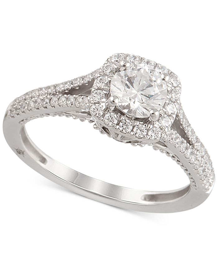 Marchesa - Certified Diamond Engagement Ring (1-1/4 ct. t.w.) in 18k White Gold