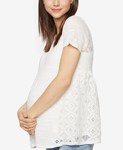 A Pea In The Pod Maternity Lace-Back T-Shirt