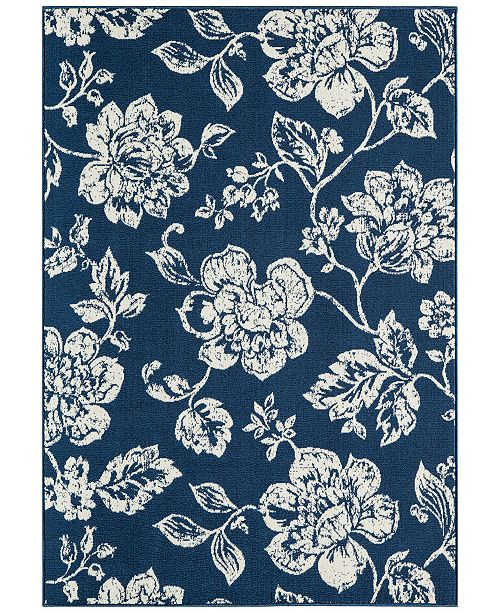 "Momeni CLOSEOUT! Breezeway Indoor/Outdoor Floral 7'10"" x 10'10"" Area Rug"