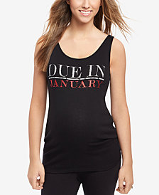 Motherhood Maternity Ribbed Graphic Tank