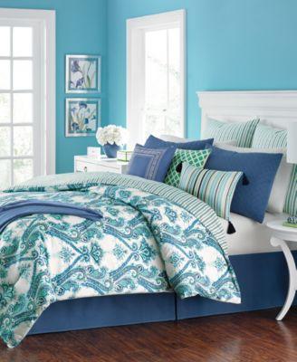 martha stewart collection adana reversible 10pc california king comforter set