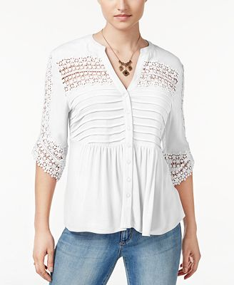 American Rag Lace Babydoll Top, Created for Macy's