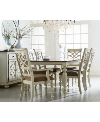 Windward Pc Dining Set Dining Table  Side Chairs   Arm - Macys dining room sets