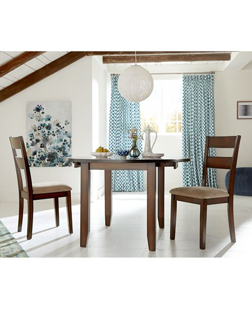 Furniture Branton Drop Leaf Round Kitchen Furniture Collection, Created for Macy's