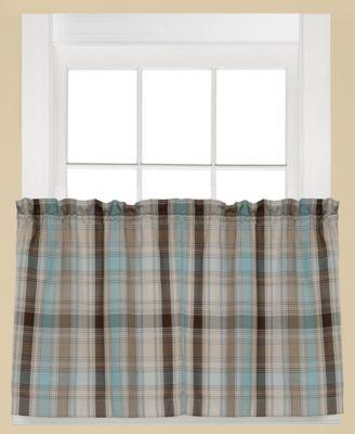 "Cooper Plaid Pair of 29"" x 24"" Tier Curtains"