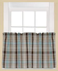 "Saturday Knight Cooper Plaid Pair of 29"" x 36"" Tier Curtains"
