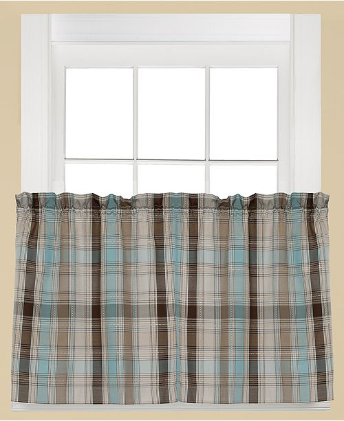 "Saturday Knight Cooper Plaid Pair of 29"" x 24"" Tier Curtains"