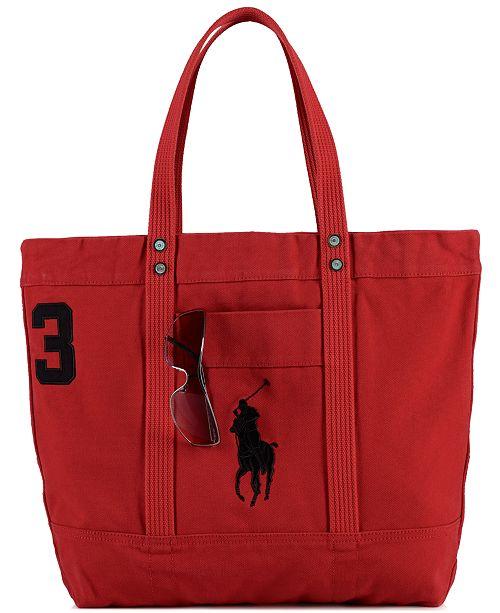 6761fca7d7 Polo Ralph Lauren Men s Big Pony Canvas Tote   Reviews - All ...