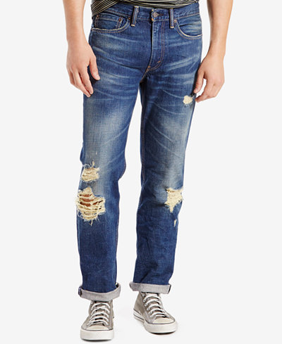 Levi's Men's 514 Straight Fit Ripped Jeans - Levi's Men's 514 Straight Fit Ripped Jeans - Jeans - Men - Macy's