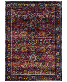"Macy's Fine Rug Gallery Journey  Prima Red 8'6"" x 11'7"" Area Rug"