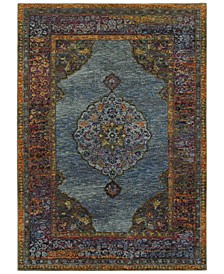 "Journey Ardebil Blue 6'7"" x 9'6"" Area Rug"