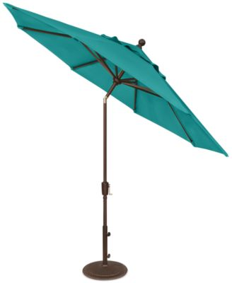 outdoor bronze 9u0027 push button tilt umbrella quick ship