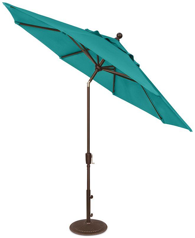 Treasure Garden Outdoor Bronze 9' Push Button Tilt Umbrella, Quick Ship