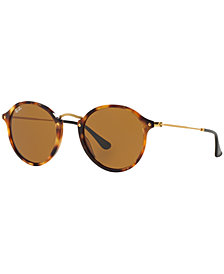 Ray-Ban ROUND FLECK Sunglasses, RB2447 52