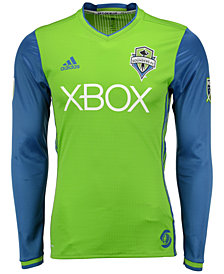 adidas Men's Seattle Sounders FC Long Sleeve Primary Authentic Jersey