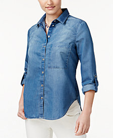 Polly & Esther Juniors' Chambray Shirt