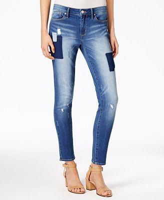 Calvin Klein Jeans Patchwork Indigo Wash Jeggings