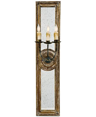 Regina Andrew Small Three-Arm Mirrored Sconce