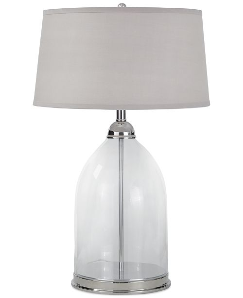 Regina andrew design glass polished nickel table lamp lighting main image aloadofball
