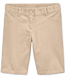 Little Girls School Uniform Bermuda Shorts