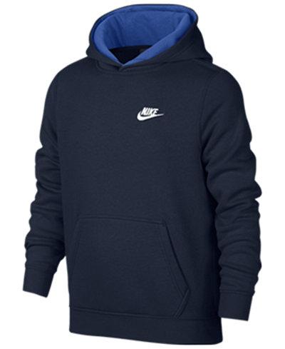 Nike Club Fleece Hoodie, Big Boys (8-20) - Coats & Jackets - Kids ...