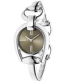 Women's Swiss Horsebit Stainless Steel Bangle Bracelet Watch 28mm YA139501