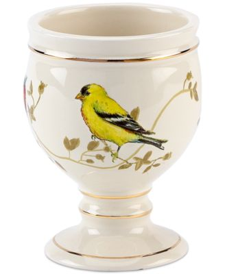 Bath Accessories, Gilded Birds Tumbler