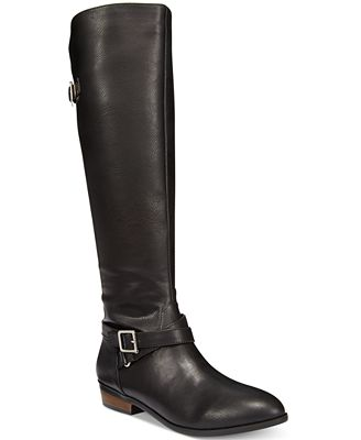 Material Girl Capri Wide-Calf Riding Boots, Only at Macy's
