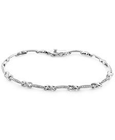 Diamond Link Bracelet (1/10 ct. t.w.) in Sterling Silver