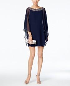 XSCAPE Petite Embellished-Neck Dress & Overlay