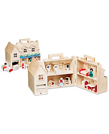 Melissa & Doug Girls' Fold & Go Dollhouse