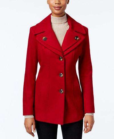 London Fog Single-Breasted Peacoat - Coats - Women - Macy's