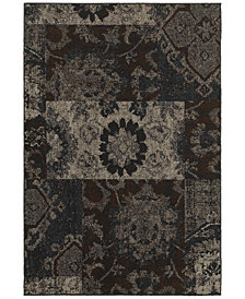 "CLOSEOUT! Oriental Weavers Revamp REV7712C Grey 6'7"" x 9'6"" Area Rug"