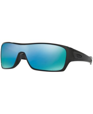 Oakley Polarized Turbine Rotor Prizm Deep Water Sunglasses, Oo9307, Black/Blue