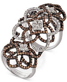 Chocolatier Diamond Knuckle Ring  (2 ct. t.w.) in 14k White Gold