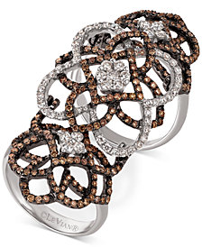 Le Vian® Chocolatier Diamond Knuckle Ring  (2 ct. t.w.) in 14k White Gold