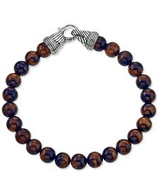 Red Tiger's Eye (8mm) Beaded Bracelet in Sterling Silver, Created for Macy's