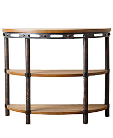 Janan Northwood Industrial Side Table, Quick Ship