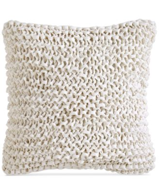 "City Pleat White 14"" x 14"" Decorative Pillow"