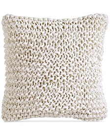 "DKNY City Pleat White 14"" x 14"" Decorative Pillow"