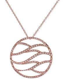 EFFY® Diamond Pendant Necklace (1/2 ct. t.w.) in 14k Rose Gold