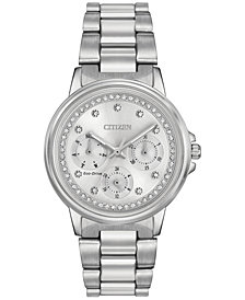 Citizen Women's Eco-Drive Nighthawk Stainless Steel Bracelet Watch 36mm FD2040-57A