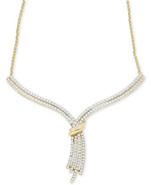 Wrapped in Love Diamond Statement Necklace (1 ct. t.w.) in 14k Gold