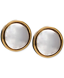 Lauren Ralph Lauren Two-Tone Button Stud Earrings