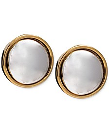 Lauren Ralph Lauren Two-Tone Button Stud Earrings
