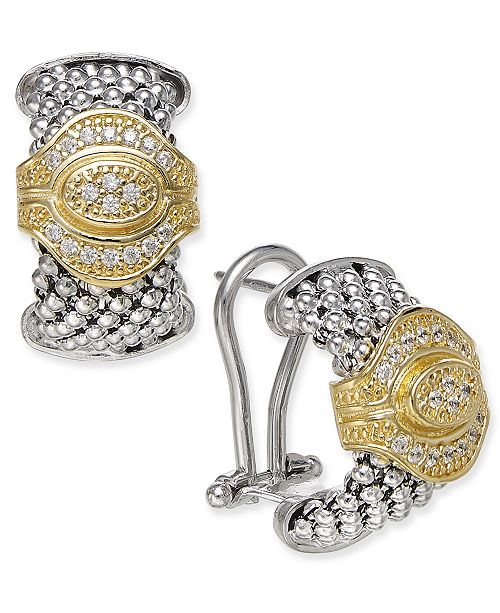 Macy's Diamond Drop Earrings (1/4 ct. t.w.) in 14k Gold-Plated Sterling Silver