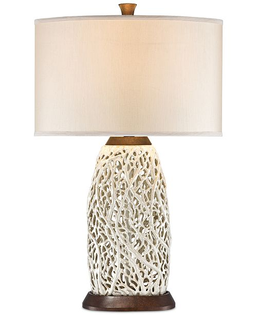 Kathy Ireland Pacific Coast Seaspray Table Lamp Wood