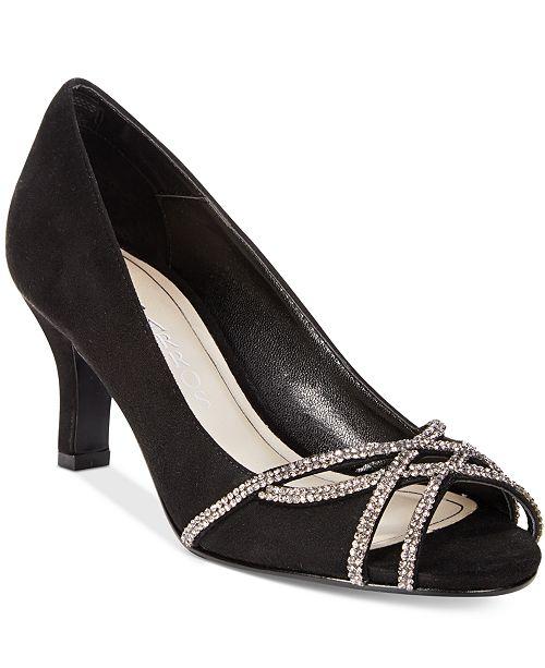 e1642b83a79 Caparros Eliza Peep-Toe Evening Pumps   Reviews - Pumps - Shoes ...