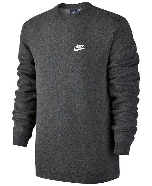 39562a9eb Nike Men's Crewneck Fleece Sweatshirt & Reviews - Hoodies ...
